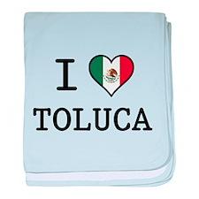 I Love Toluca T-Shirts baby blanket