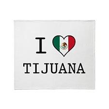 I Love Tijuana Throw Blanket