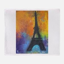 ABSTRACT EIFFEL TOWER Throw Blanket
