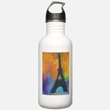 ABSTRACT EIFFEL TOWER Water Bottle