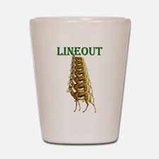 Springboks Rugby Lineout Shot Glass