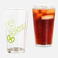 Geocaching T5 Cacher green Pint Glass