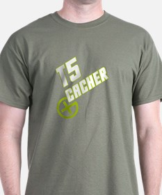 Geocaching T5 Cacher green T-Shirt