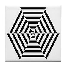Striped Hexagon Tile Coaster