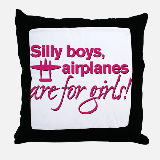 Silly boys... Throw Pillow