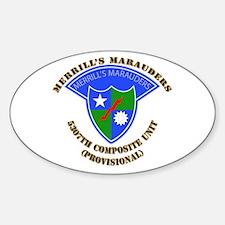 SOF - Merrills Marauders Sticker (Oval)