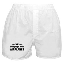 Still plays with Airplanes-Co Boxer Shorts