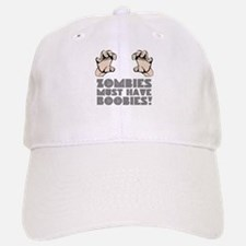 Zombies Love Boobies Baseball Baseball Cap