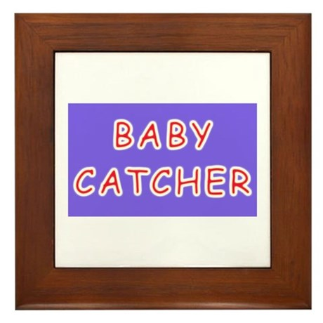 Baby catcher midwife gift Framed Tile