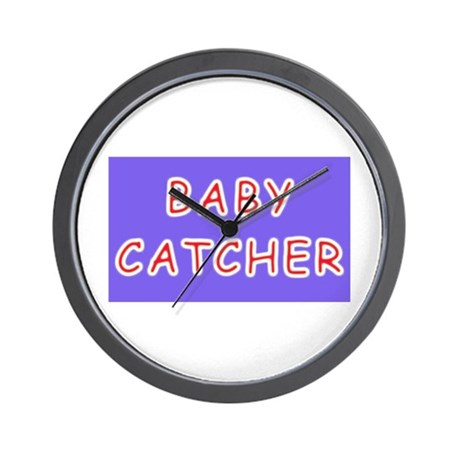 Baby catcher midwife gift Wall Clock