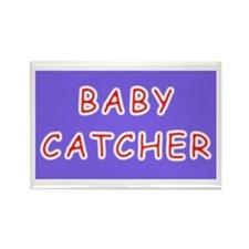 Baby catcher midwife gift Rectangle Magnet (100 pa