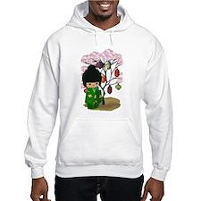 Green Kawaii Kokeshi Doll Hoodie