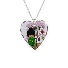 Green Kawaii Kokeshi Doll Necklace