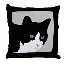 Tuxedo Kitty Throw Pillow