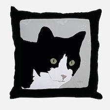 Tuxedo Kitty Throw Pillow