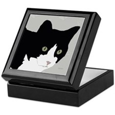 Tuxedo Kitty Keepsake Box