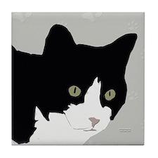 Tuxedo Kitty Tile Coaster