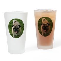 Fawn Pug Drinking Glass