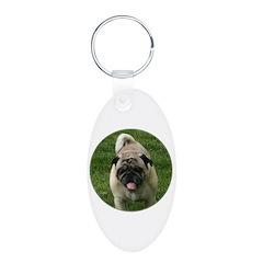 Fawn Pug Keychains
