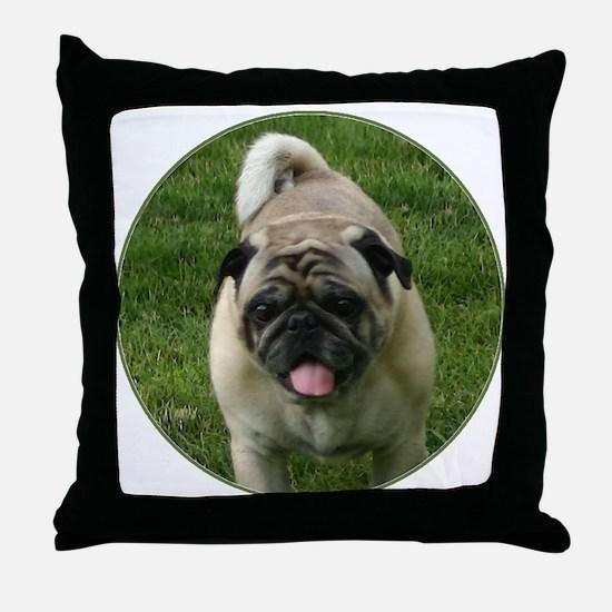 Fawn Pug Throw Pillow