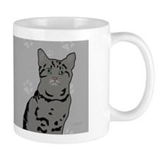Gray Tabby Kitty Coffee Mug