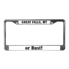 Great Falls or Bust! License Plate Frame