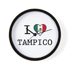 I Love Tampico Wall Clock