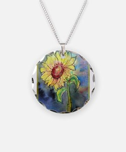 Sunflower, colorful, art, Necklace