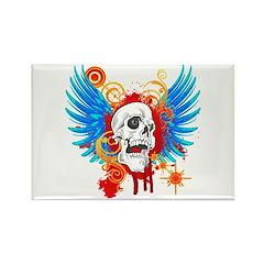 Demon Hunter Death Angel Bike Rectangle Magnet (10