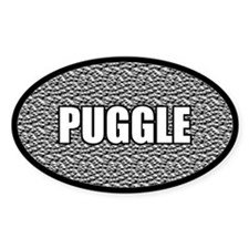 Silver Puggle Decal
