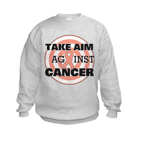 Take Aim - Uterine Cancer Kids Sweatshirt