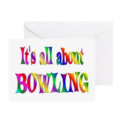 About Bowling Greeting Cards (Pk of 10)