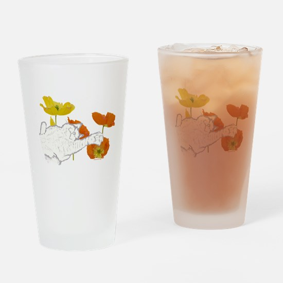 Checkers in Poppies Pint Glass
