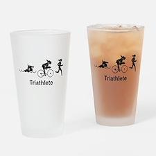 Lady Triathlete Pint Glass