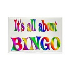 About Bingo Rectangle Magnet (10 pack)