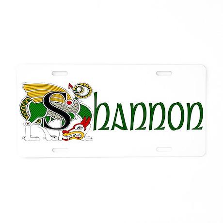 Shannon Celtic Dragon Aluminum License Plate