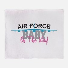 Air Force Baby Throw Blanket