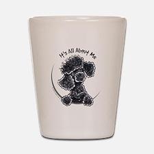 Black Poodle Lover Shot Glass