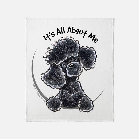 Black Poodle Lover Throw Blanket