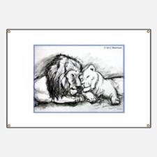 Lion, couple, stunning, Banner