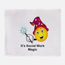 Social Work Magic Throw Blanket