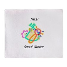 NICU Social Worker Throw Blanket