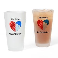 Geriatric Social Worker Pint Glass