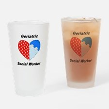 Geriatric Social Worker Pint Glass
