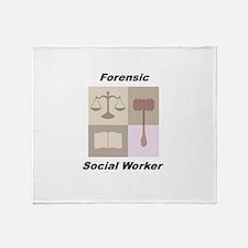 Forensic Social Worker Throw Blanket