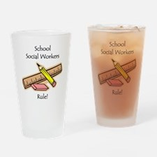 Social Workers Rule Pint Glass