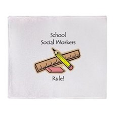 Social Workers Rule Throw Blanket