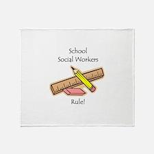Social Workers Rule Throw Blanket