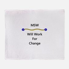 MSW Will Work for Change Throw Blanket