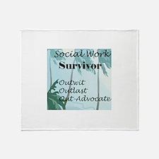 Social Work Survivor Throw Blanket